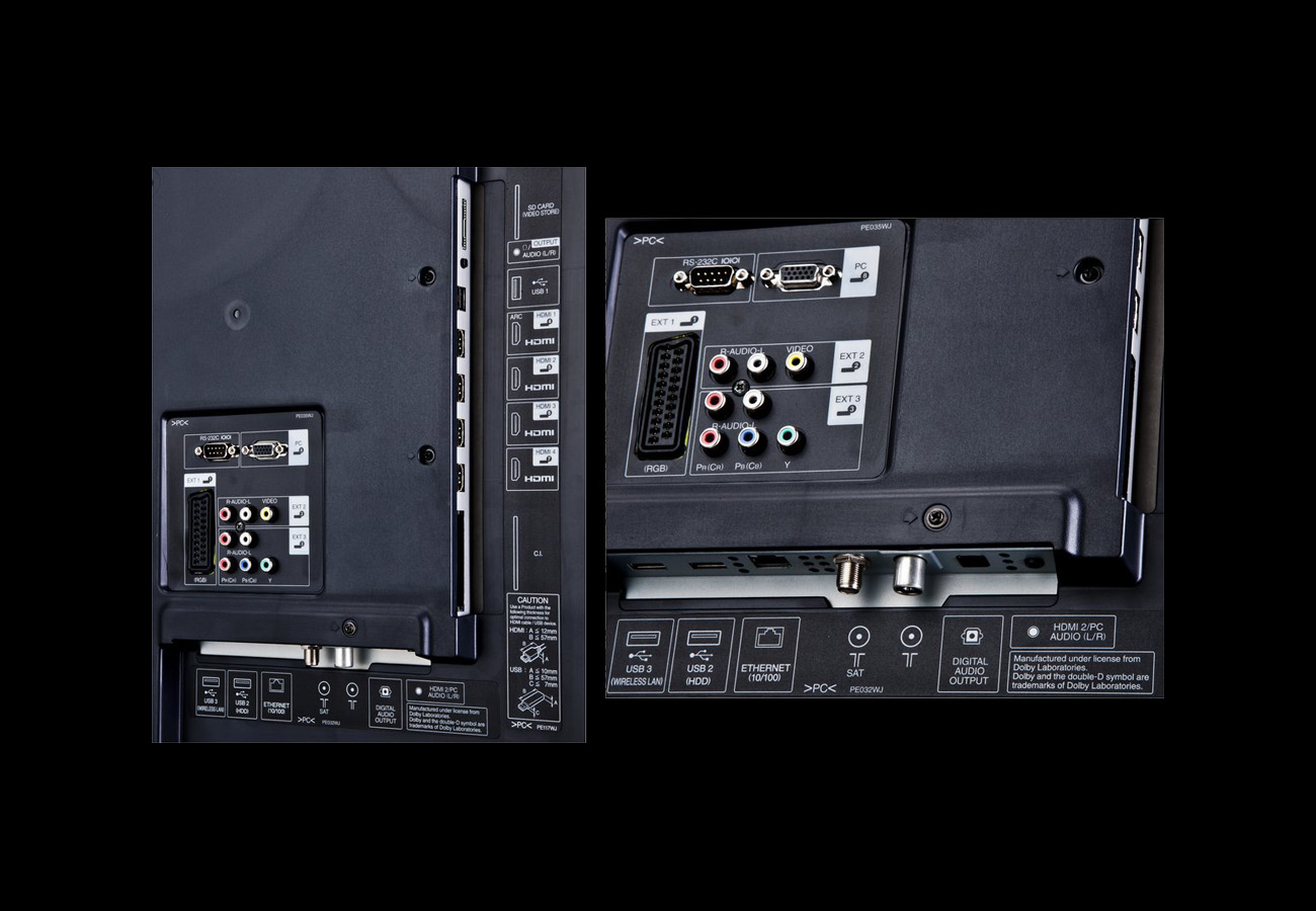 Shap LC-60LE635E – 60_ Back